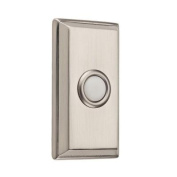 Baldwin 9BR7015-002 Wired Rectangular Bell Button - Satin Nickel