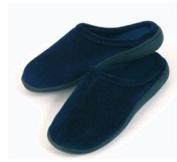 Living Health Products MFSS-004-03 Memory Foam Slippers Blue