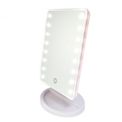 Gotofine Battery Operated Cordless Touch Screen LED Lighted Vanity Cosmetic Make up Mirror / Makeup Mirror with LED Lights, with Portable 7.6cm 10x Magnification Spot Mirror