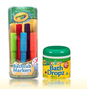 . Bathtub Markers with . Colour Bath Drops 60 tablets