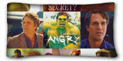 Custom Cotton & Polyester Soft ( hulk ) Soft Pillow Case Cover 20*90cm (One Sides)Zippered Pillowcase suitable for X-Long Twin-bed