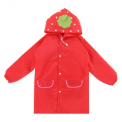 Naimo Chirldren Cute Portable Poncho Raincoat Translucent Raincoat