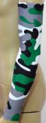 NEW! Sports Farm - Green Grey Black White Woodland Camo Arm Sleeve