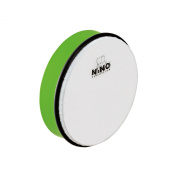 Nino Percussion NINO45GG 20cm ABS Plastic Hand Drum with Synthetic Head, Grass Green