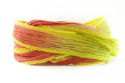Berry Lime Handmade Silk Ribbon - Berry and Lime Blend with Lime Edges