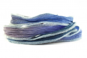 Steely Blues Handmade Silk Ribbon - Four shades of blue blend