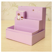 Purple DIY Paper Board Storage Box Stationery Makeup Cosmetic Organiser by 24/7 store