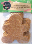 Glitter Holiday Christmas Gingerbread Man Crafting Foam Shapes - 10 Count