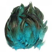 KING DO WAY 100pcs Fluffy Fashion Rooster Feather Fringe Decoration Home Craft DIY 15cm - 20cm US blue
