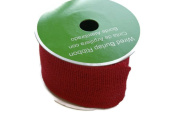 Red Wired Burlap Ribbon Spool - 6.4cm x 4.6m