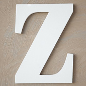 "The Lucky Clover Trading ""Z"" Wood Block Letter, White"
