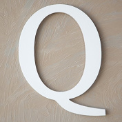"The Lucky Clover Trading ""Q"" Wood Block Letter, White"