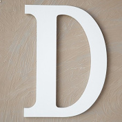 "The Lucky Clover Trading ""D"" Wood Block Letter, White"