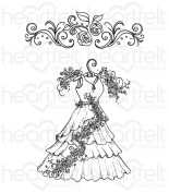 Heartfelt Creations All Glammed Up - All Dressed Up stamps