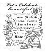Heartfelt Creations All Glammed Up - Fashionista stamps