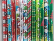 3 Rolls Metallic Gift Wrap - Paper for Wrapping Presents - Assorted Styles