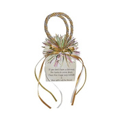 """Miniature Music Box Mini Gift Bag - Beige Christmas Holiday """"Down Chimney Comes Old St Nick"""""""