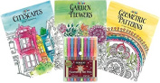 Just for Laughs Adult Colouring Book Kit with Fluorescent Marker Set