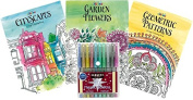 Just for Laughs Adult Colouring Book Kit with Metallic Marker Set