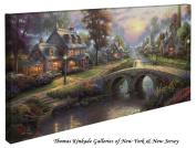 Sunset on Lamplight Lane - Thomas Kinkade 41cm X 80cm Gallery Wrapped Canvas
