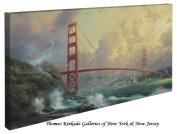 San Francisco, Golden Gate Bridge - Thomas Kinkade 41cm X 80cm Gallery Wrapped Canvas