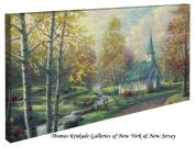 The Aspen Chapel - Thomas Kinkade 41cm x 80cm Gallery Wrapped Canvas