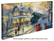All Aboard for Christmas - Thomas Kinkade 41cm X 80cm Gallery Wrapped Canvas