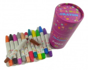 PartyErasers 3 in 1 - Crayon, Pastel and WaterColour 12 Colours Twistable Gel Wax Crayon in Tub