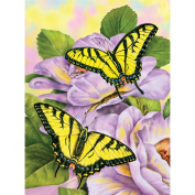 """Brand New Junior Small Paint By Number Kit 22cm """"X11.190cm """"-Swallowtail Butterflies Brand New"""