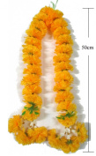 Thai Big Size Artificial Yellow Marigold Garland /Size