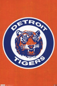 Liebermans TIARP1379 Tigers - Retro Logo 11 22.00 x 34.00 Poster Print