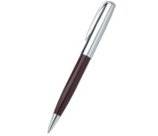 Aeropen International CF-5007BC Twist-Action Ballpoint Pen Chrome- Brown Lacquer with Chrome Parts Brass