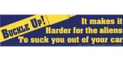 AzureGreen EBBUC Buckle Up! It Makes it Harder for The Aliens... Bumper Sticker