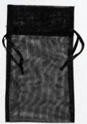 AzureGreen RO45BK Large Organza Pouch - Black