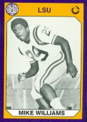 Autograph Warehouse 91445 Mike Williams Football Card Lsu 1990 Collegiate Collection No. 64