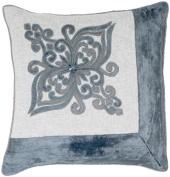 Indias Heritage C810 Embroidery On Cotton Velvet Pillow Wheat Gold