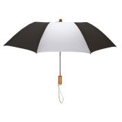Peerless 2363-Black-White Executive Folding Umbrella Black And White