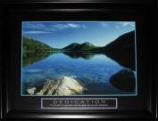 Midway Memorabilia Dedication Peaceful Water Lake Motivational Large Frame