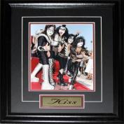 Midway Memorabilia Kiss Rock Band 8X10 Frame