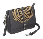 Concealed Carry Zebra Hair-On Shoulder Clutch by Gun Tote'n Mamas