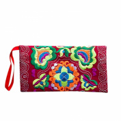 Coromose® Women Ethnic Embroidered Wristlet Clutch Wallet