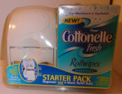 Cottonelle Fresh Moist Rollwipes Starter Pack with Dispenser for Babies and Adults