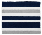 Modern Navy and Grey Accent Floor Rug for Stripe Kids Teen Bedding Collection ...