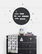 I Love You To The Moon And Back Quote Lettering Wall DecalWall Decal - by Simple Shapes ®