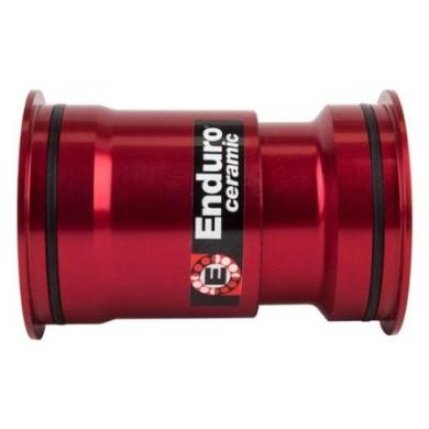 Wheels Manufacturing Bottom Bracket PF30 Pressfit 30 Red Alloy Ceramic