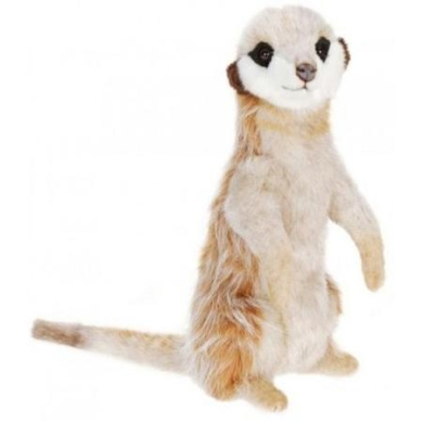 Pack of 2 Life-like Handcrafted Extra Soft Plush Upright Adult Meerkat Stuffed Animals 32cm