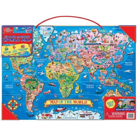 Ts shure wooden magnetic world map puzzle by ts shure shop ts shure wooden magnetic world map puzzle by ts shure shop online for toys in australia gumiabroncs Choice Image