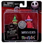 The Nightmare Before Christmas Minimates Santas Elves Minifigure 2-Pack