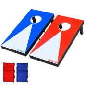 GoSports Junior Size . x . m Portable Cornhole Boards Indoor Outdoor Game Set with 6 Bean Bags