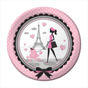 Creative Converting 425584 Party in Paris - 23cm . Dinner Plates - Case of 96